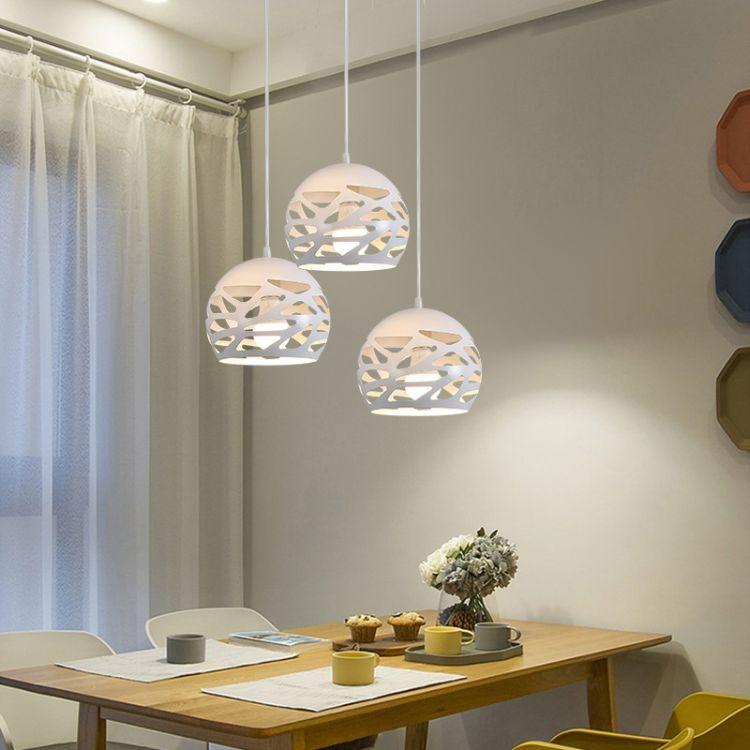简约现代亚克力餐厅吊灯创意圆形led阳台过道玄关时尚个性灯具