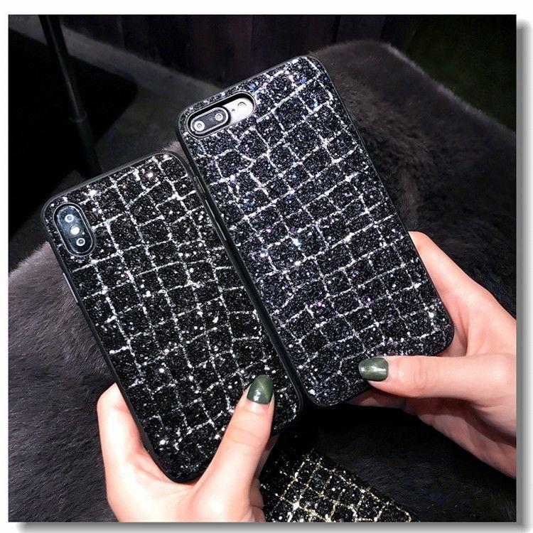 适用于iPhonex手机壳苹果7/8奢华大气闪钻6S女款网红韩国潮牌亮片