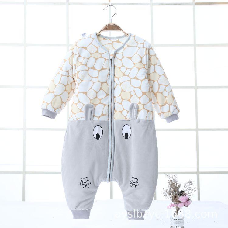 2018婴儿分腿睡袋宝宝童睡袋加厚儿童睡袋秋冬包抱被批发