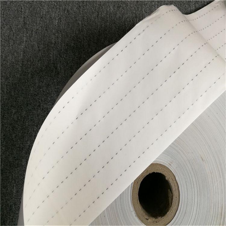 安全线不干胶标签防伪纸张 防伪安全线纸 卷筒安全线不干胶纸现货