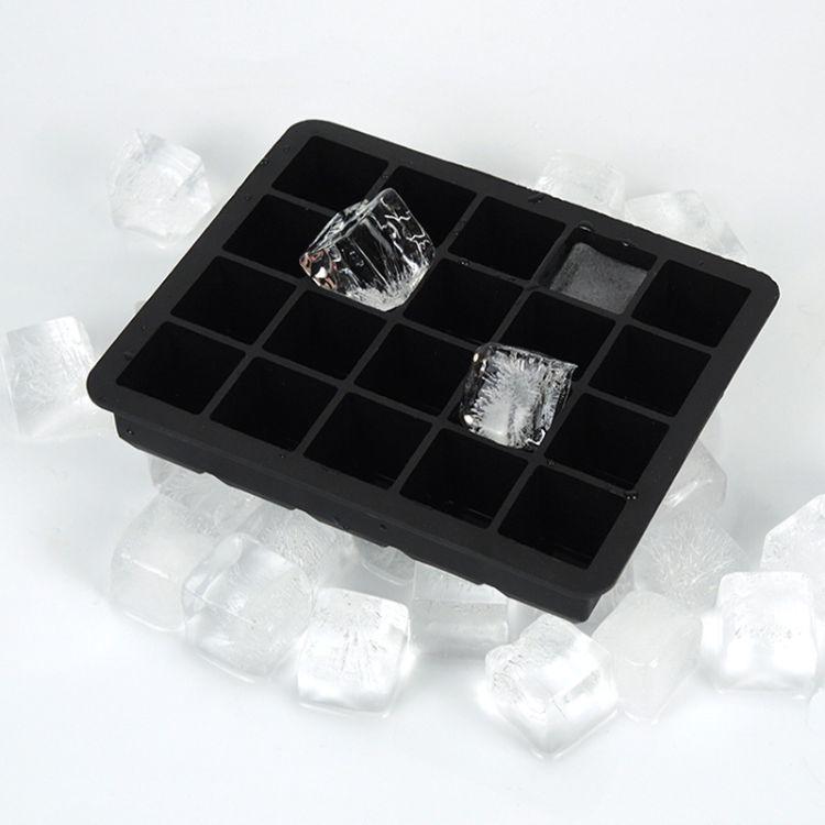 食品级冰格模具 厨房用具硅胶方形多格冰格  厂家直销硅胶模具