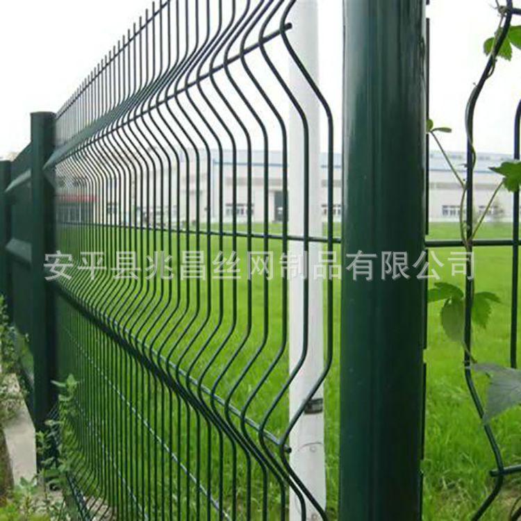 桃型柱围栏网小区厂区护栏网 双边丝边框围栏网学校围栏网护栏网