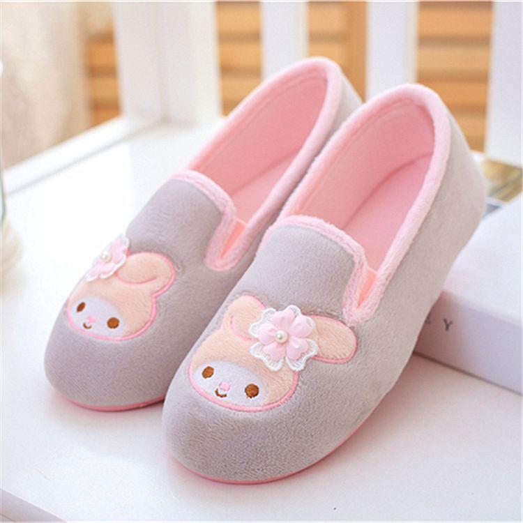 批发春秋新款卡通兔子月子鞋厚底大码防水防滑孕妇鞋夏季产后鞋