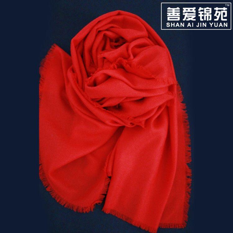 內蒙古廠家純羊毛 素色羊絨大披肩 秋冬款羊毛披肩 大牌女圍巾