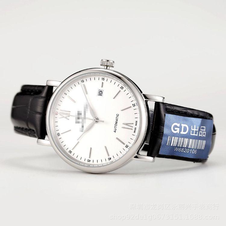 時尚日歷名牌瑞士男士款全自動機械手表柏濤菲諾系列腕表皮帶防水