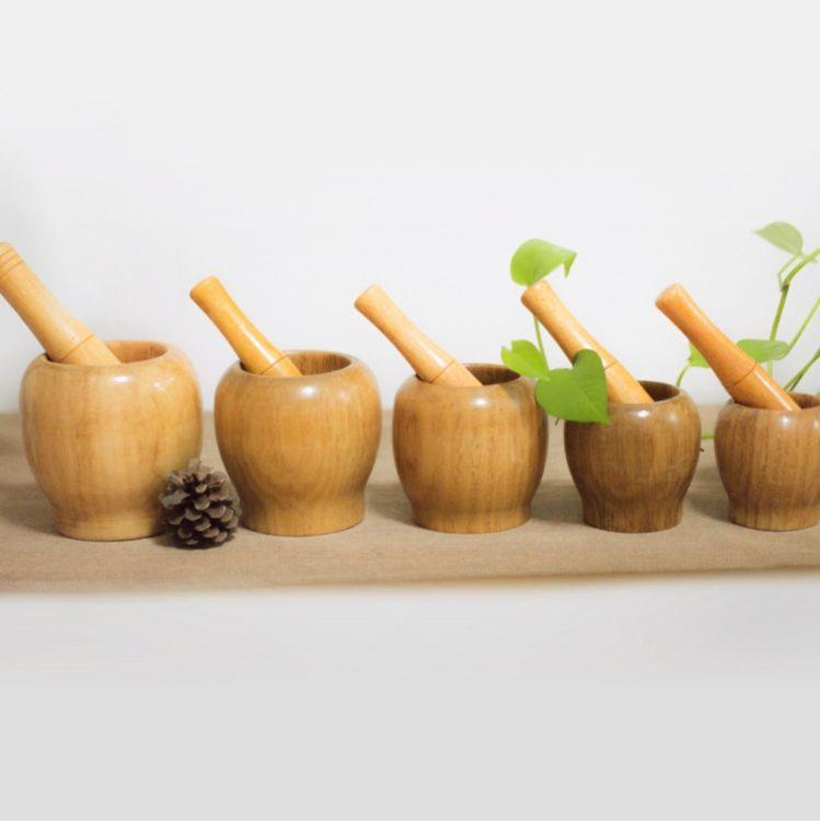 健康环保 去芯整木捣蒜器 剥蒜泥 手动 蒜臼 专业厨具厂家直销
