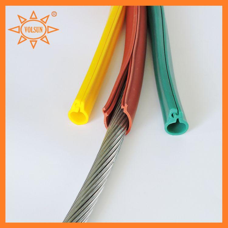 厂家供应大口径开口硅胶管 35kv裸导线卡扣式绝缘硅胶管
