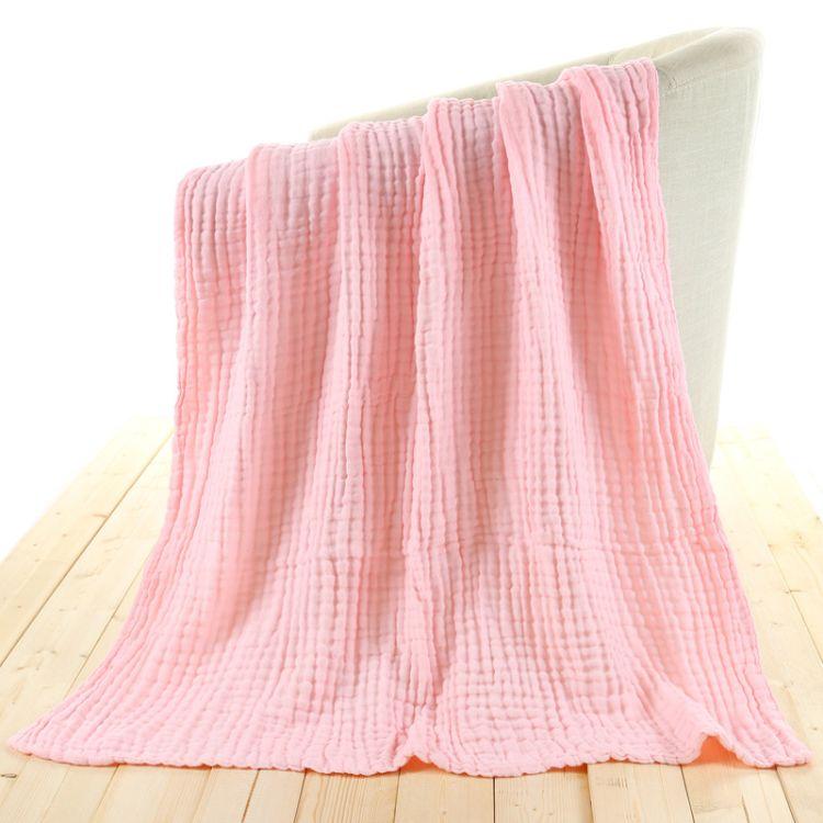 全棉卡通印花纱布童被超柔软纯棉褶皱儿童盖毯高档6层儿童抱被