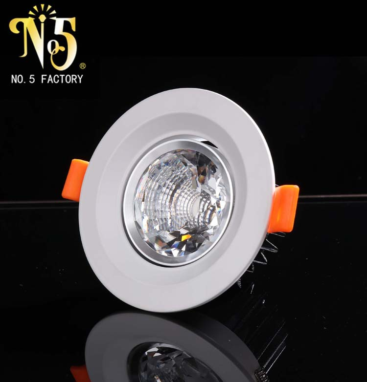 批发销售高亮度水晶筒灯 家用led暗装筒灯 多款式筒灯