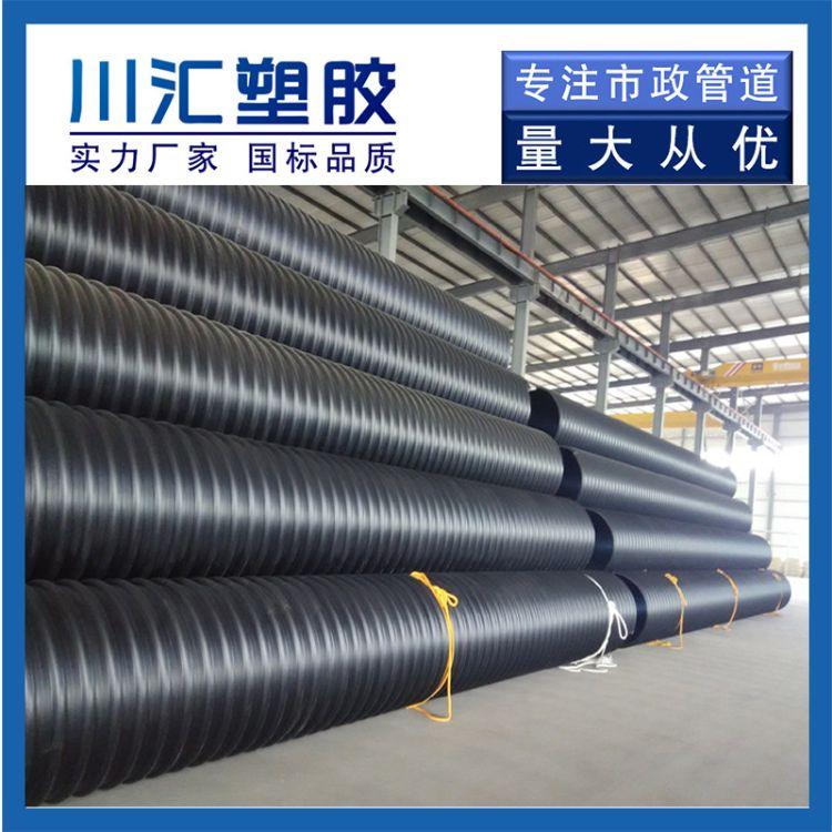 钢带增强波纹管生产厂家 聚乙烯螺旋波纹管 螺旋波纹管规格齐全