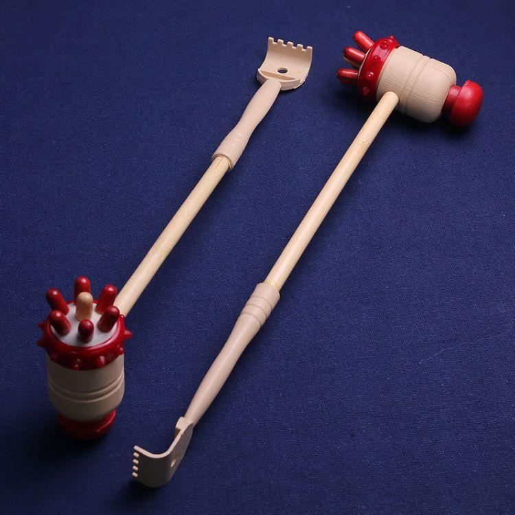 批发日用品 家居健身锤 木质按摩棰保健捶 按摩锤彩色七星锤