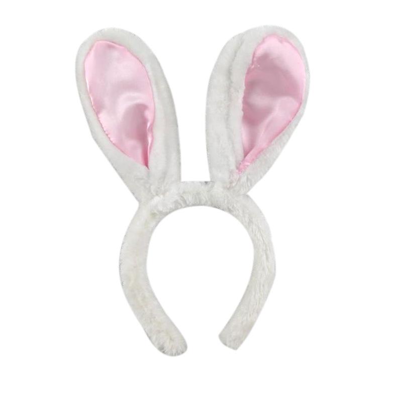 2018新款儿童兔耳朵发箍发饰爆款厂家直销欧美女童毛绒兔耳朵头箍