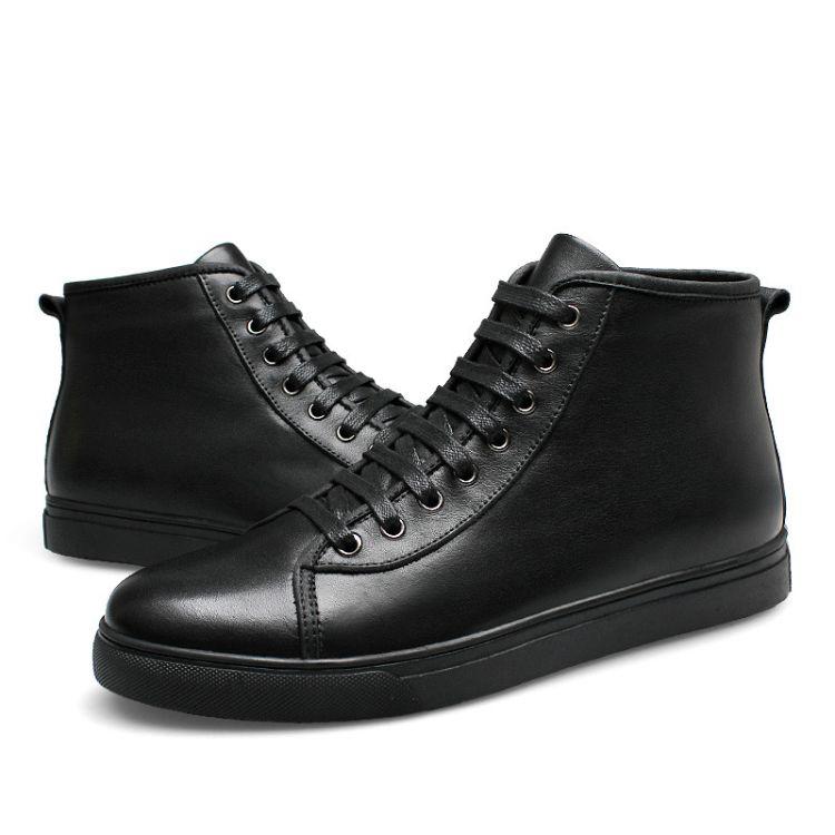 新款男鞋子中帮鞋韩版潮流休闲皮鞋运动鞋男士中帮板鞋男青年潮鞋
