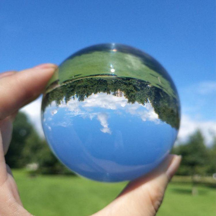 厂家直销现货水晶球 k9水晶球透明摆件 摄影拍照玻璃定制内雕球