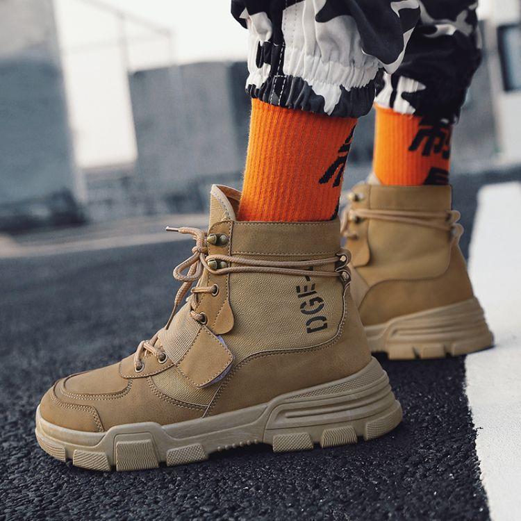 厂家直销马丁靴男靴子高帮雪地靴冬季中帮短靴工装沙漠靴英伦复古