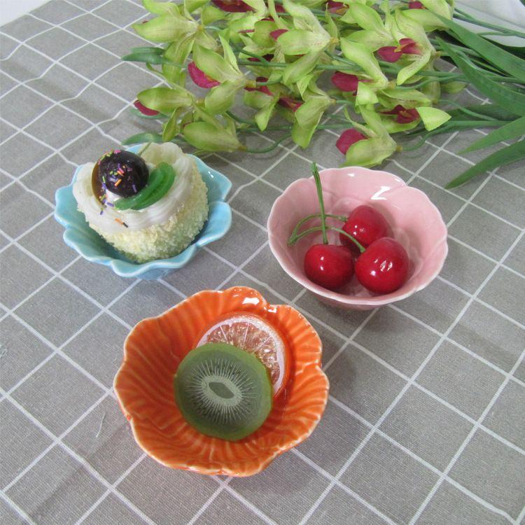 欧美创意餐具陶瓷小吃碗碟色釉陶瓷水果甜品沙拉碗系列 厂家直销