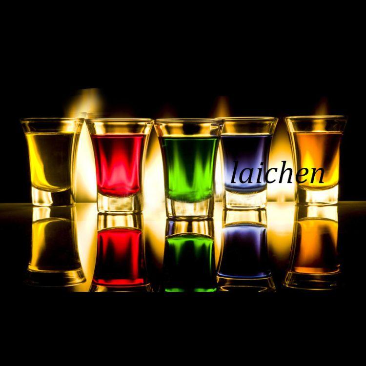 高白料厚底喇叭杯,夜店KTV品酒专用,酒店专用白酒杯