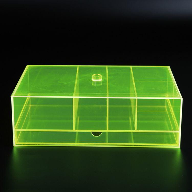 定制亚克力包装盒收纳盒 有机玻璃多格子盒子 盖子式首饰盒