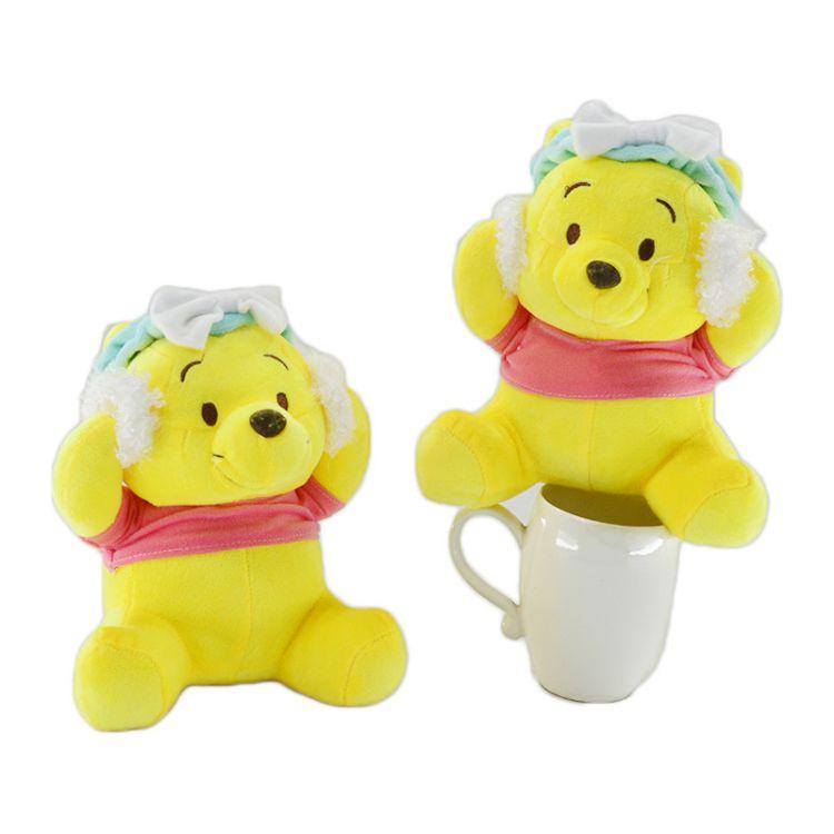 日本热销卡通洗脸维尼熊公仔可爱毛绒玩具抓机娃娃支持一件代发
