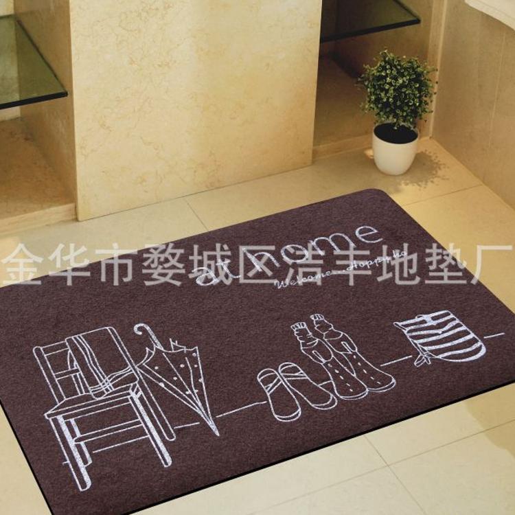 印花地垫  拉绒地毯丝印地垫 凳子雨鞋图地毯