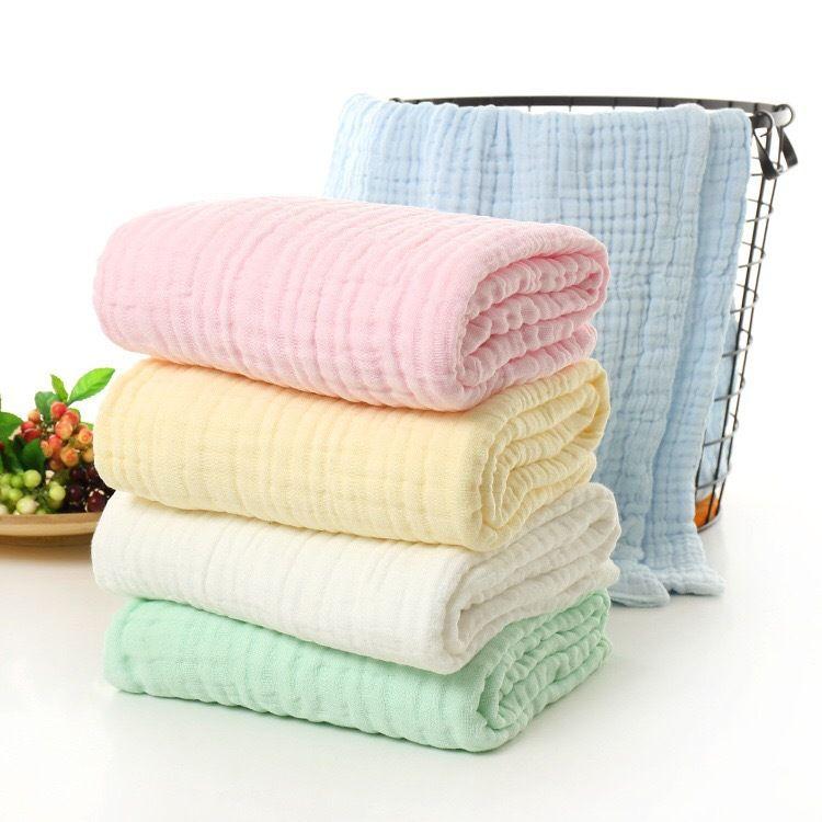 包童被纯棉六层褶皱医用泡泡棉浴巾儿童毛巾被母婴宝宝抱被浴巾