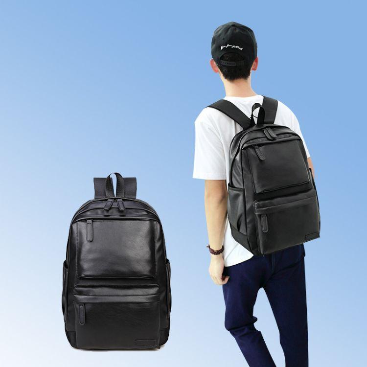 厂家直销2018新款韩版休闲PU双肩包情侣户外旅行包男女户外电脑包