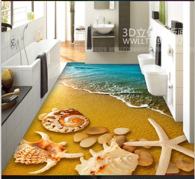 错觉3D立体自粘pvc防水防滑耐磨卧室客厅厨房浴室地毯地垫地板革