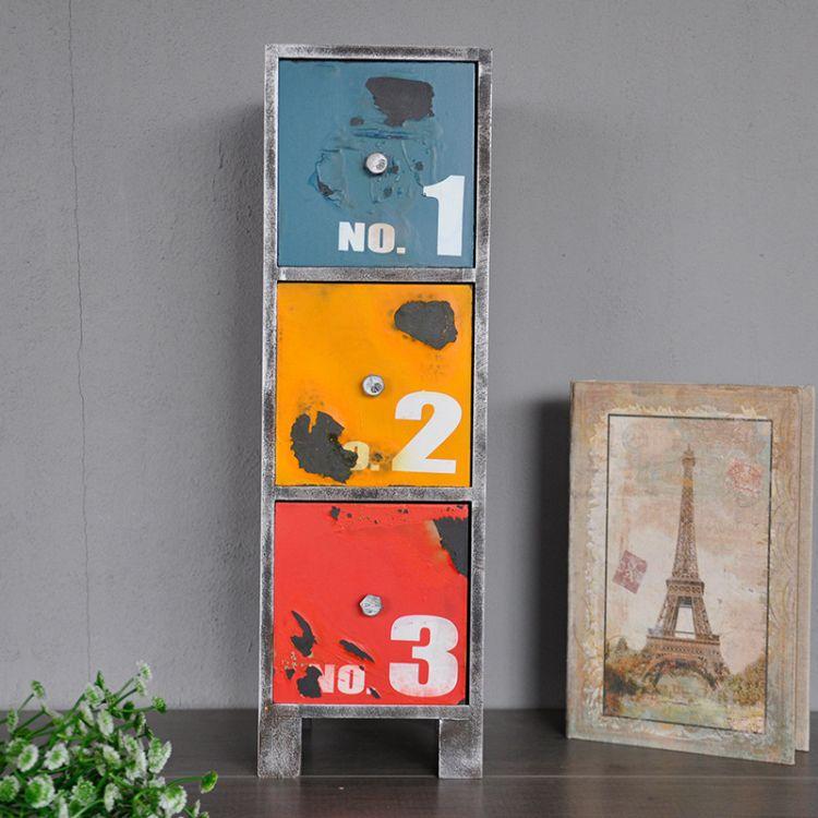 廠家直銷 三層抽屜收納盒 整理箱 收納箱 美麗鄉村收納柜帶抽屜