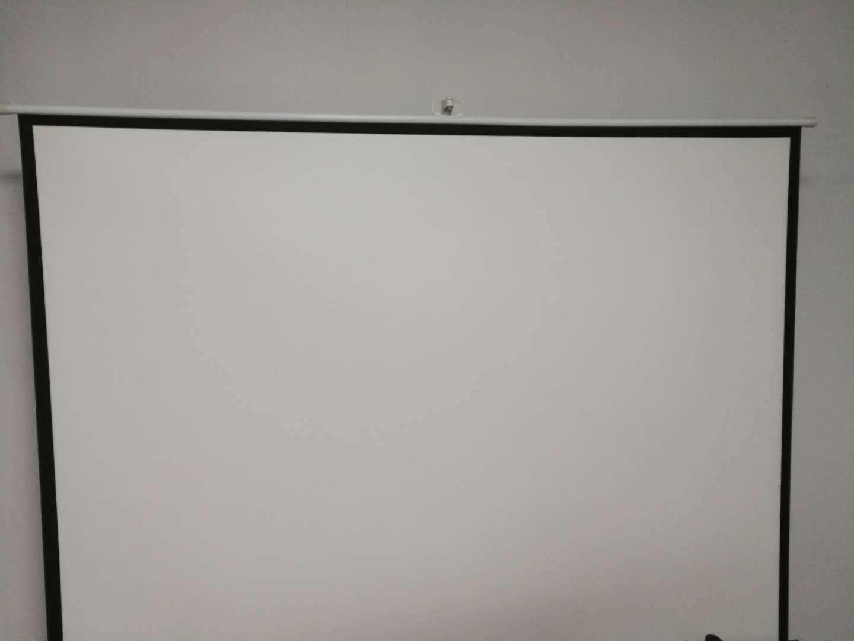 便携支架幕布白塑100寸16-9 4-3KTV投影机高清家用投影幕 幕布