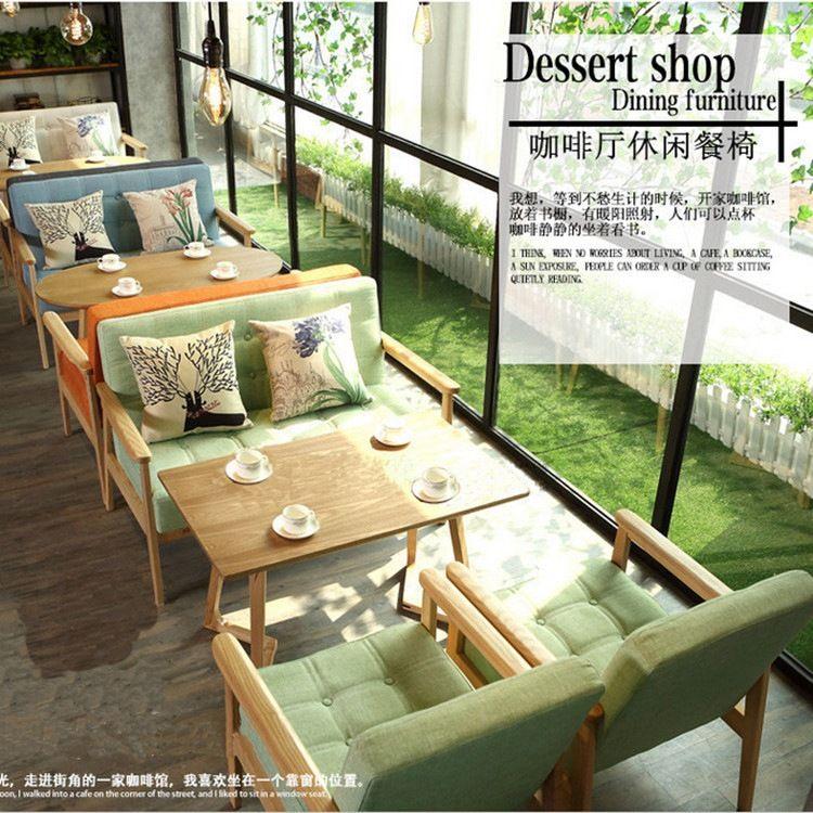成套实木餐厅桌椅订制 新款茶餐厅/西餐厅/咖啡店餐厅家具批发