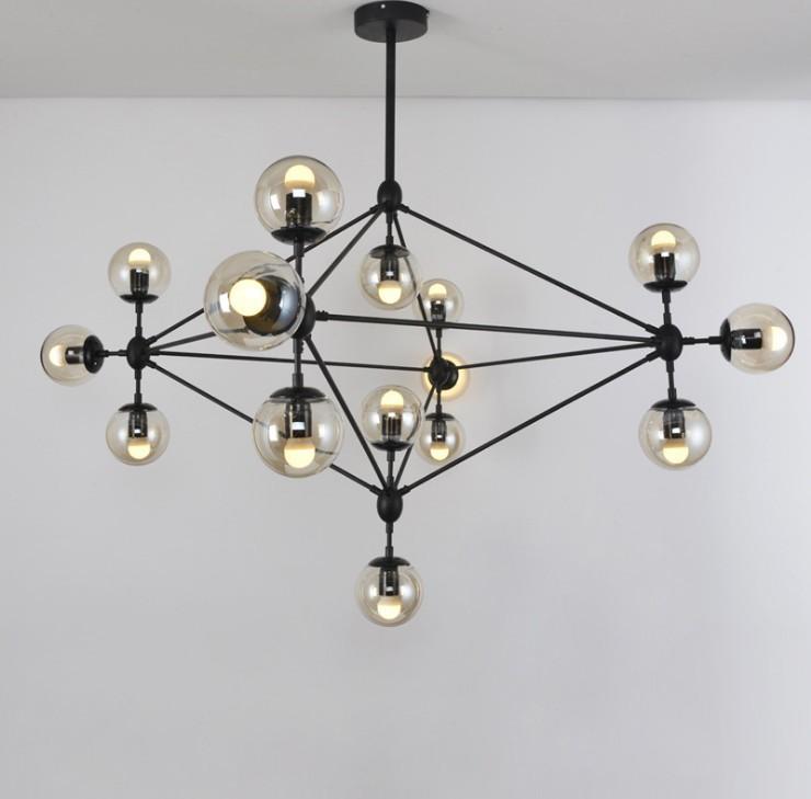魔豆灯分子灯后现代吊灯北欧客厅餐厅灯饰玻璃球铁艺灯具酒吧吊灯