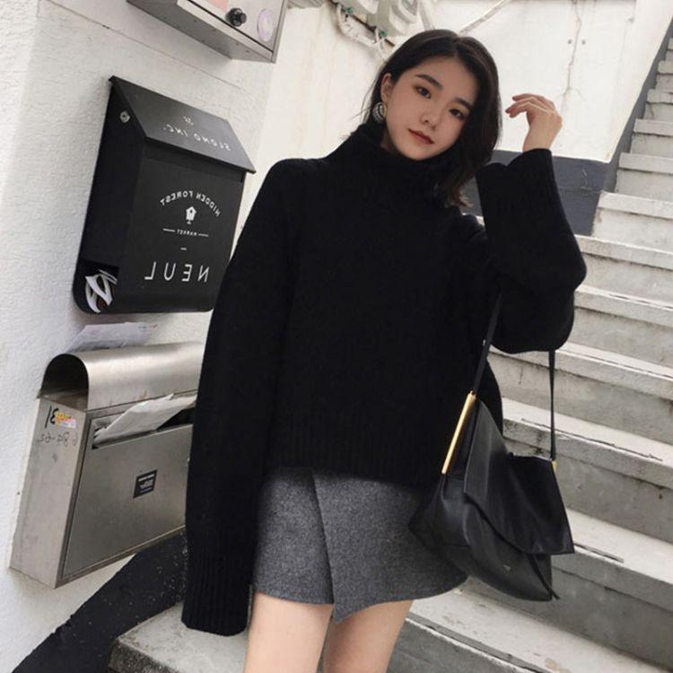 2018秋冬新款女装软妹港味两件套慵懒风毛衣套装裙时尚潮