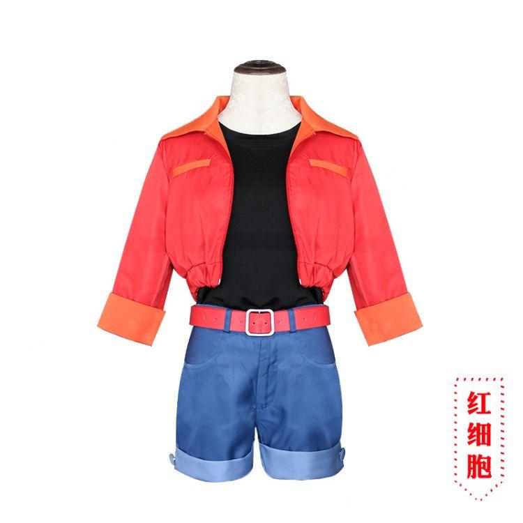 工作细胞红细胞cosplay服装全套万圣节服装
