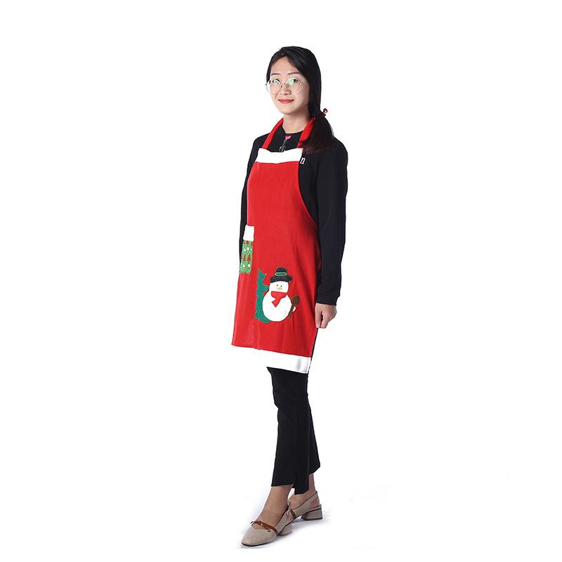 圣诞围裙圣诞薄款家居围裙创意时尚圣诞节装饰品圣诞服务员服装