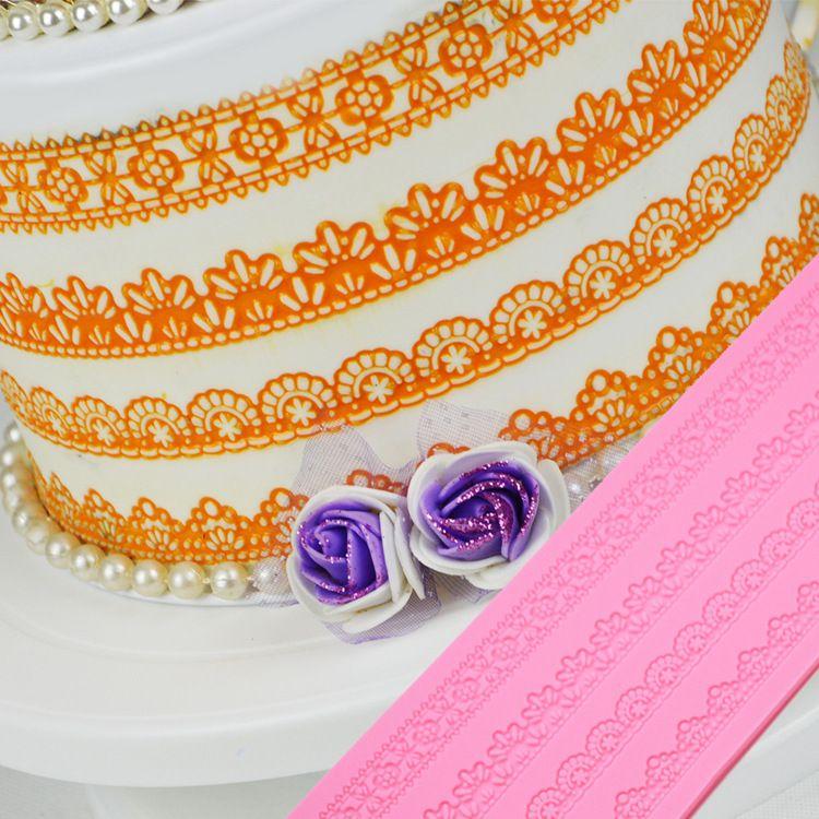 硅胶蛋糕装饰模 长方形太阳花硅胶蕾丝翻糖模具 烘焙工具厨房用品