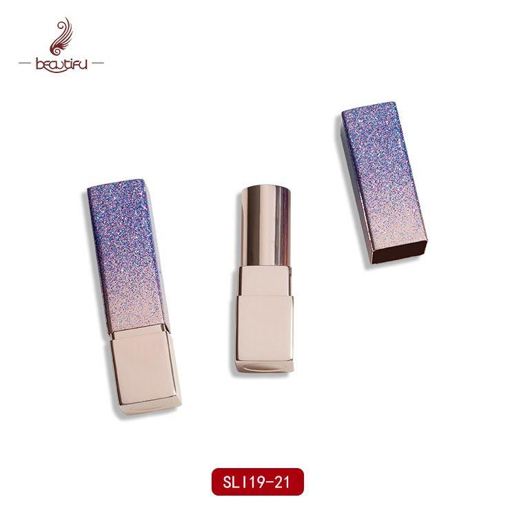 工厂铝制亮晶晶星辰口红管口蜡管喷涂口红管SLI19-21