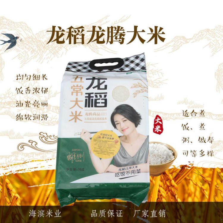 新米上市 龙稻五常大米 龙腾稻花香米5kg 批发直销