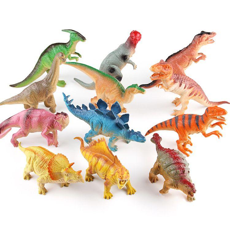 新款恐龙玩具电动12款混装卡通软塑胶搪胶恐龙玩具模型