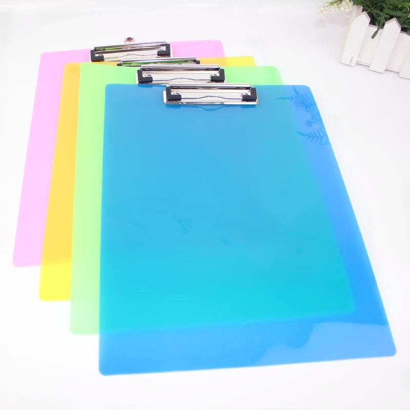 S10文具板夹 A4透明PP塑料写字夹文件板夹垫板菜单写字记事板夹