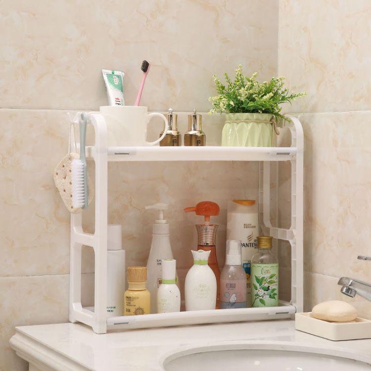 创意厨房实用置物架简易双层杂物收纳架家居站立式防水整理架子