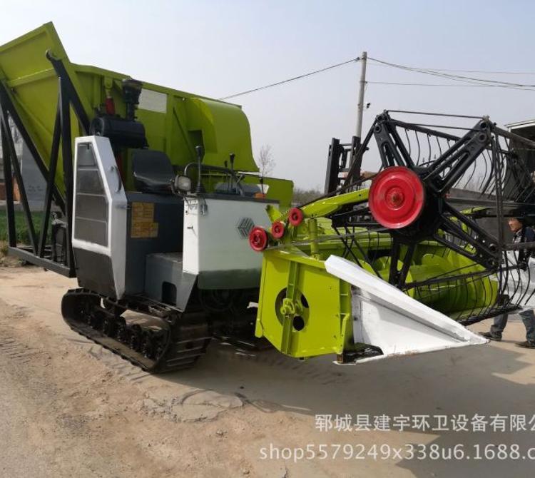 新款履带式大型玉米秸秆青储机牧草收割 机饲料粉碎收割机