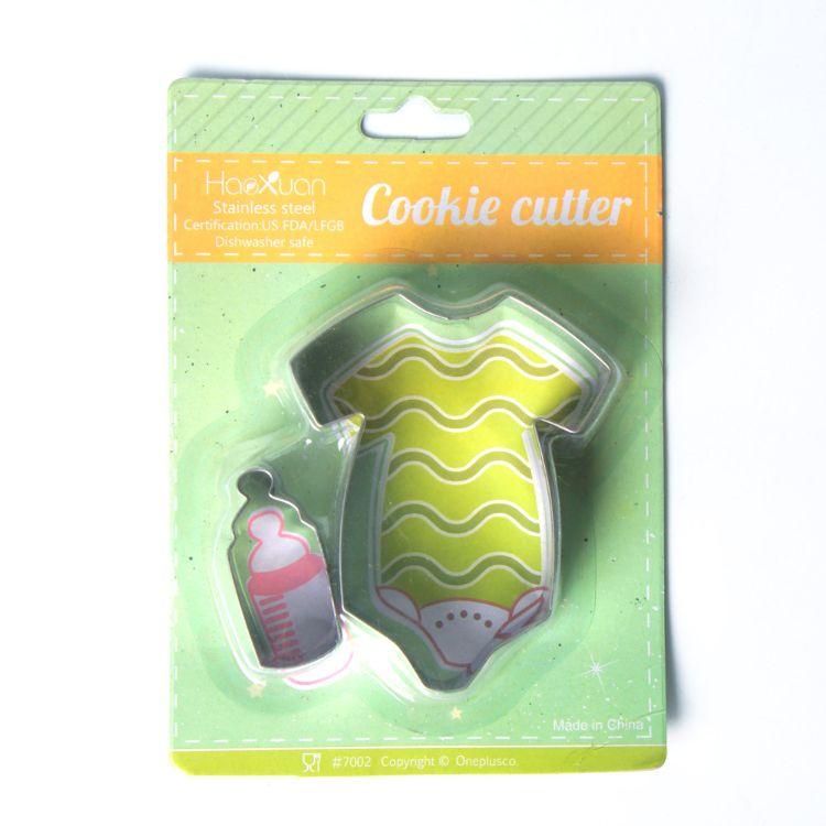 厂家直 厨房烘焙小工具 卡通蛋糕模 迷你饼干模 婴儿套装 翻糖模