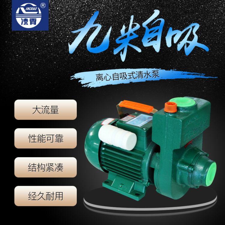 凌霄自吸清水泵家用220V高扬程农用灌溉小型水井水泵超大流量ZDK