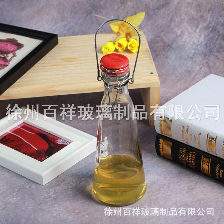 厂家批发酵素瓶 手提式牛奶瓶 密封玻璃果汁瓶 乐扣玻璃饮料瓶