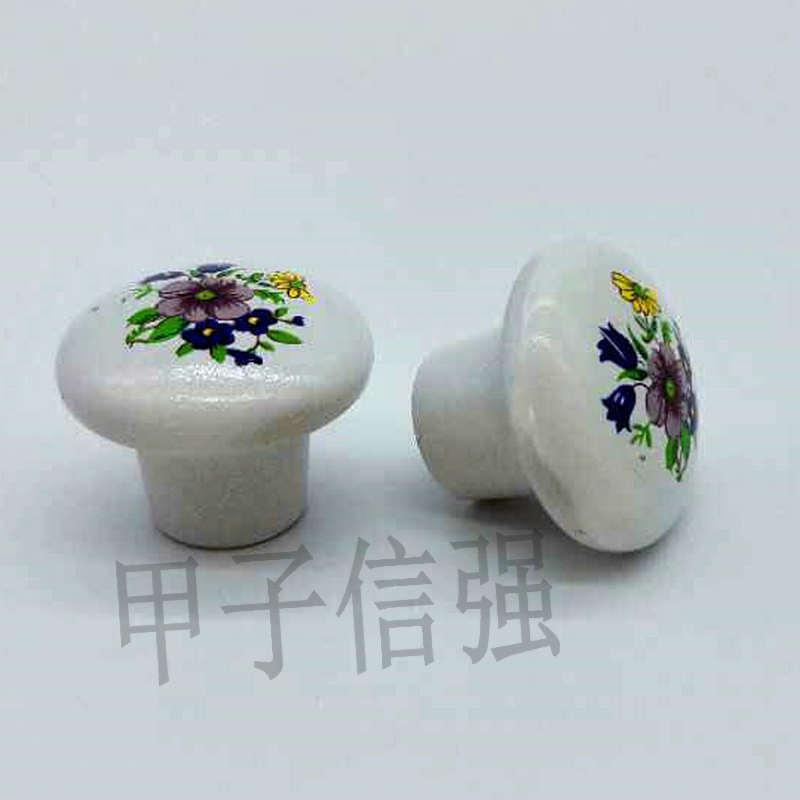厂家直销家具配件单孔拉手抽屉衣柜拉珠柜子柜门把手塑料陶瓷拉珠
