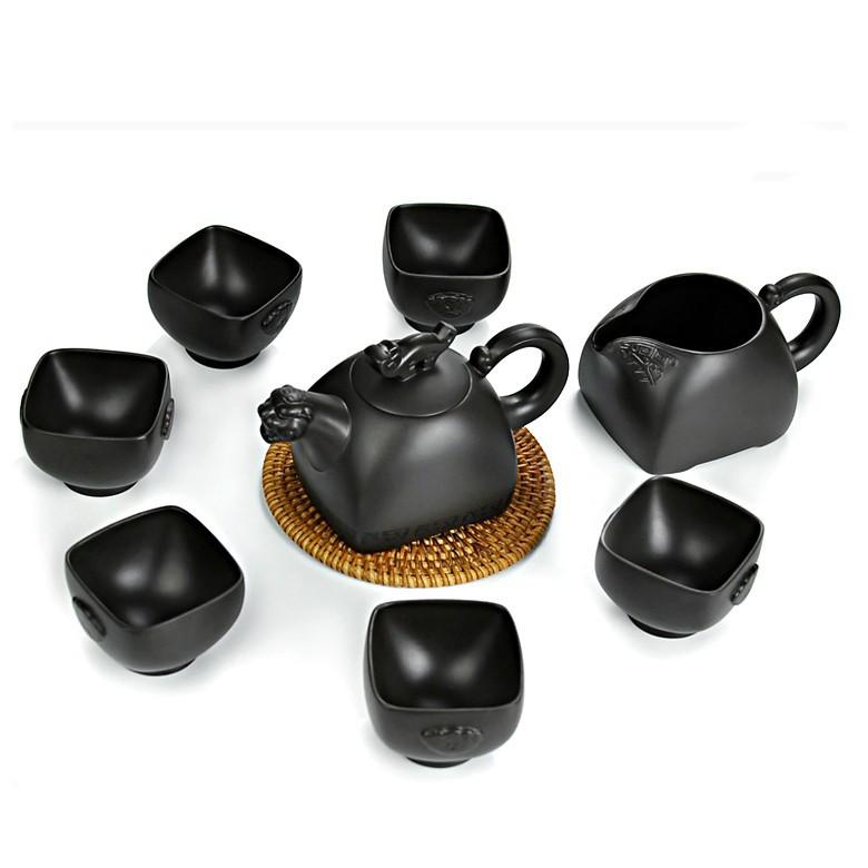 顺天扬 宜兴紫砂 茶具套装虎啸茶具 纯紫砂 高仿茶具 仿古陶瓷