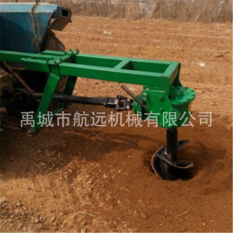 植树挖坑机  拖拉机后悬挂的打眼机 定做加长2米电线杆打坑机械