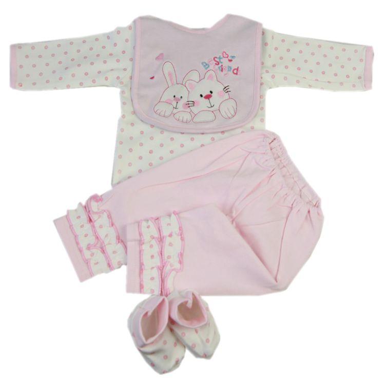 22-23寸仿真婴儿哈衣4件套 重生娃娃女孩服饰 Wish速卖通ebay热卖