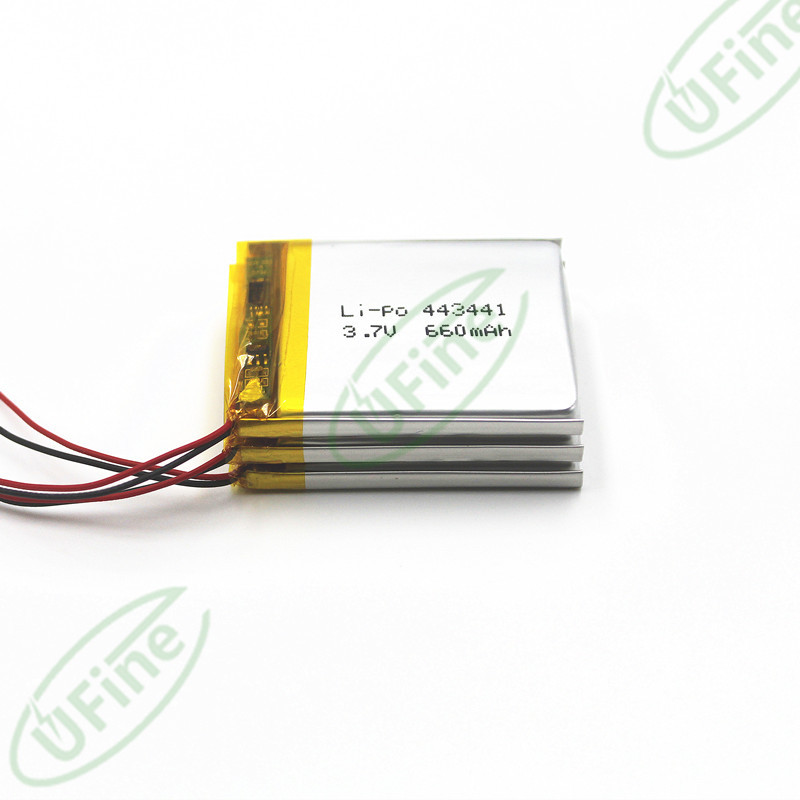 UFX443441 3.7v 660mAh聚合物锂电池各类数码产品KC KC认证