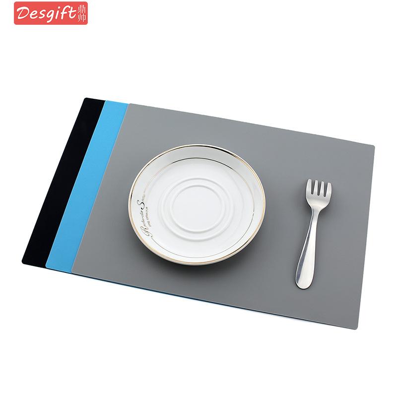 跨境热卖28x21cm硅胶餐垫杯垫纯色防滑厨房垫桌垫隔热防烫可印刷
